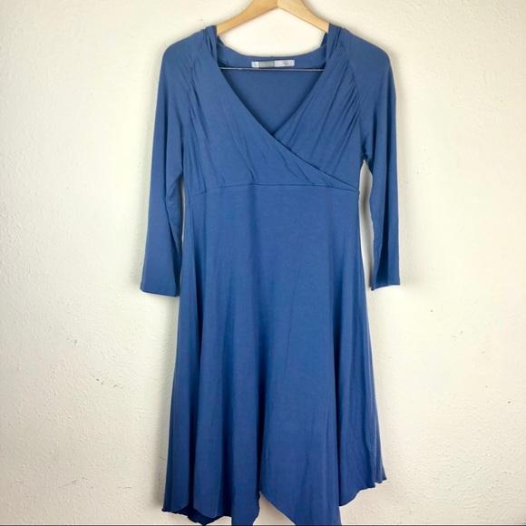 89015824ef78 Athleta Dresses | Jersey Blue Asymmetrical Hooded Dress | Poshmark